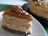 Pumpkin Caramel Pecan Cheesecake
