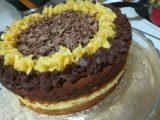Tarta de naranja y trufa de chocolate